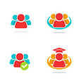 leadership teamwork union people concept logo vector image