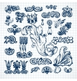 Leaves sketch set vector image vector image