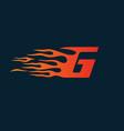 letter g flame logo speed logo design concept vector image vector image