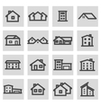 line house icons set vector image vector image