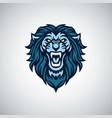 lion roaring mascot logo vector image vector image