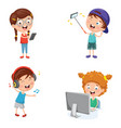 of kids technology vector image