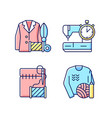 outfit repair services rgb color icons set vector image vector image