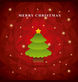pine tree icon merry christmas design vector image