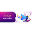 promotion strategy concept banner header vector image