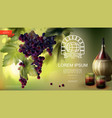 realistic winemaking industry background vector image vector image
