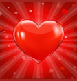 red hearts background with bokeh vector image vector image