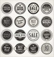 retro labels and badges vector image vector image
