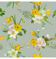 Seamless Pattern Floral Background Spring Flowers vector image vector image