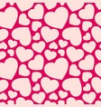 seamless pattern with hearts red and pink vector image vector image