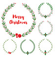 set new year christmas doodle hand drawn vector image vector image