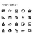 Set of 20 editable banking icons includes symbols vector image