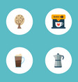 set of drink icons flat style symbols with mocha vector image vector image