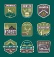 Set of trekking badge and logo vector image vector image