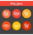 set of vintage colorful Autumn labels for vector image