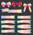 set spectrums color ribbon banner stickers vector image vector image
