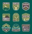 set trekking badge and logo vector image