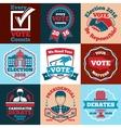 set vote labels badges for elections vector image
