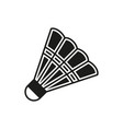 shuttlecock icon on white background vector image