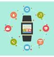smart watch gadget vector image