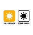 solar energy panel icon power battery light vector image