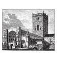 st davids cathedral vintage vector image vector image
