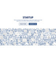 startup banner design vector image