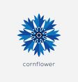 stylized cornflower logo vector image vector image