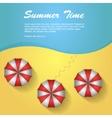 Sunshade on the beach vector image