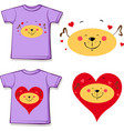 t shirt design - dog in love printed design vector image