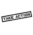 Take Action rubber stamp vector image vector image