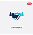 two color shaking hands icon from business vector image vector image