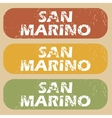Vintage San Marino stamp set vector image vector image