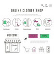 web design template of clothes and accessories vector image