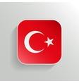 Button - Turkey Flag Icon vector image