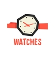 red and black abstract watches vector image