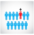Boss choosing the imperfect businessman vector image