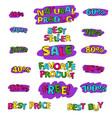 label set for sale vector image