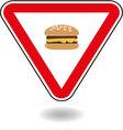 Sign Cheeseburger vector image