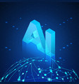 Ai hologram over global network artificial
