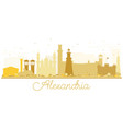 alexandria egypt city skyline golden silhouette vector image vector image