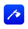ancient ax weapon icon blue vector image