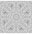 arabic seamless black and white pattern doodle vector image