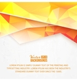 Background of orange waves and triangles vector image
