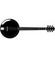 banjo silhouette vector image vector image