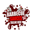 barbecue and sauces logo vector image vector image