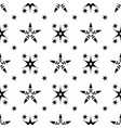 black on white stars grid seamless pattern vector image vector image