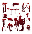 blood splashes set vector image