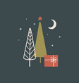 christmas card or poster in scandinavian vector image vector image