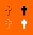 church cross icon vector image vector image